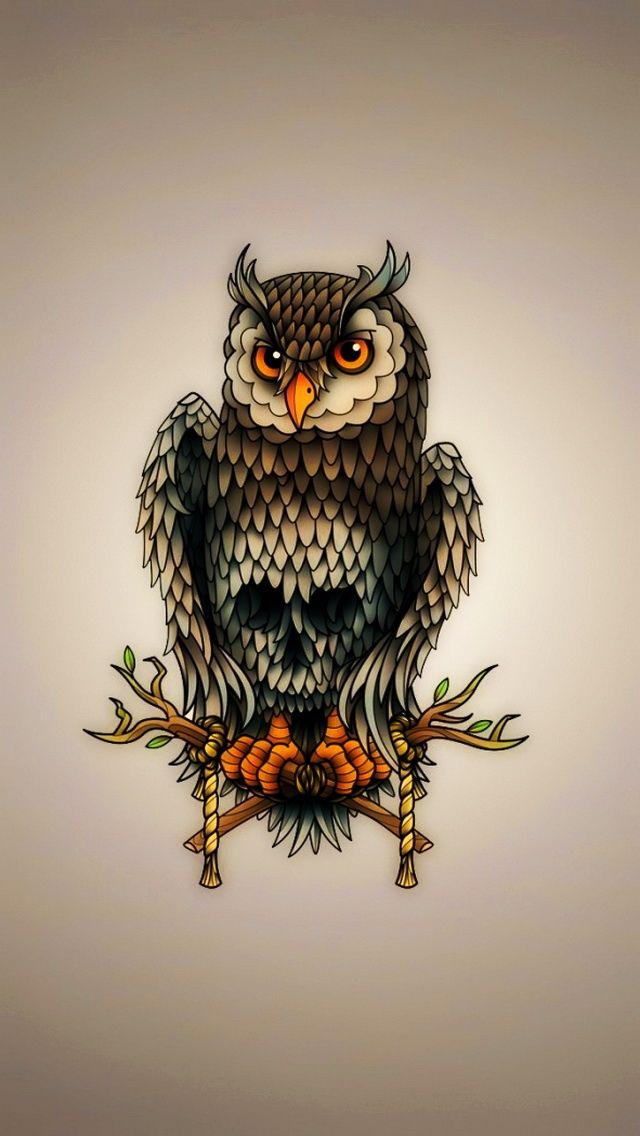 Owl Art - IPhone Birds Wallpapers @mobile9