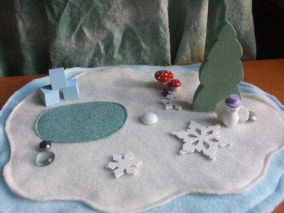 Winter Wonderland Playmat by LittleRedWhimsy on Etsy