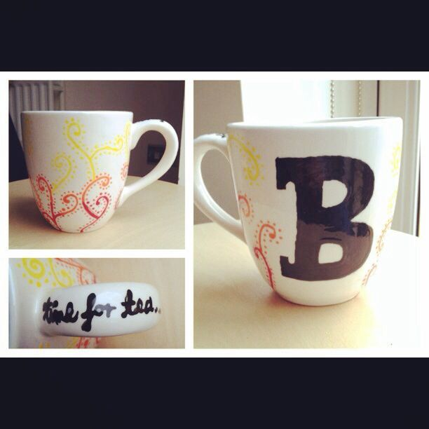 The mug I painted at Happy Potter Ceramics in Teddington. It's an amazing place to go and paint pottery while relaxing in a cafe. I am in love with my pattern