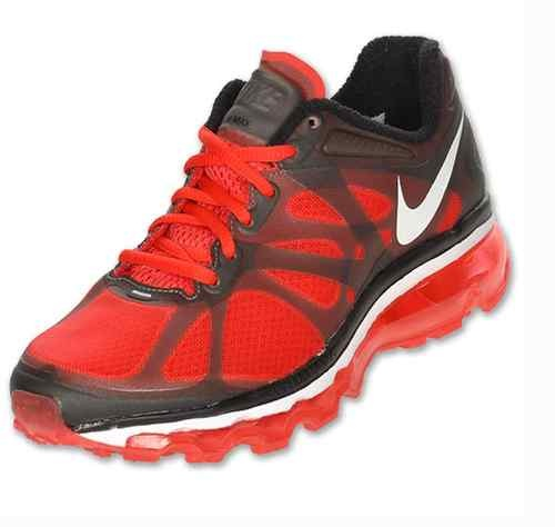 Nike Air Max 2012 GS Running Shoes Boys Girls Kids Action Red New Size