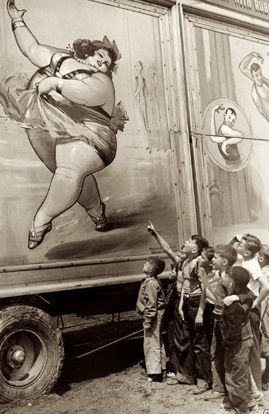 Affiche.Sideshow, Vintage Carnivals, Vintage Photos, Vintage Circus, Freak Show, Kids, Big Tops, Big Girls, Fat Lady