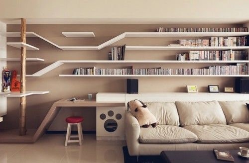 Indoor play structure added to bookcase, book shelves! #cats #CatClimb #BookShelves