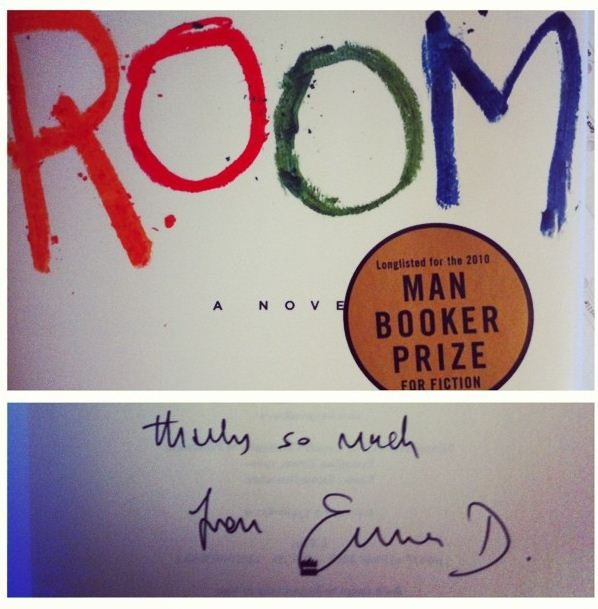 Prized signed copy of ROOM.