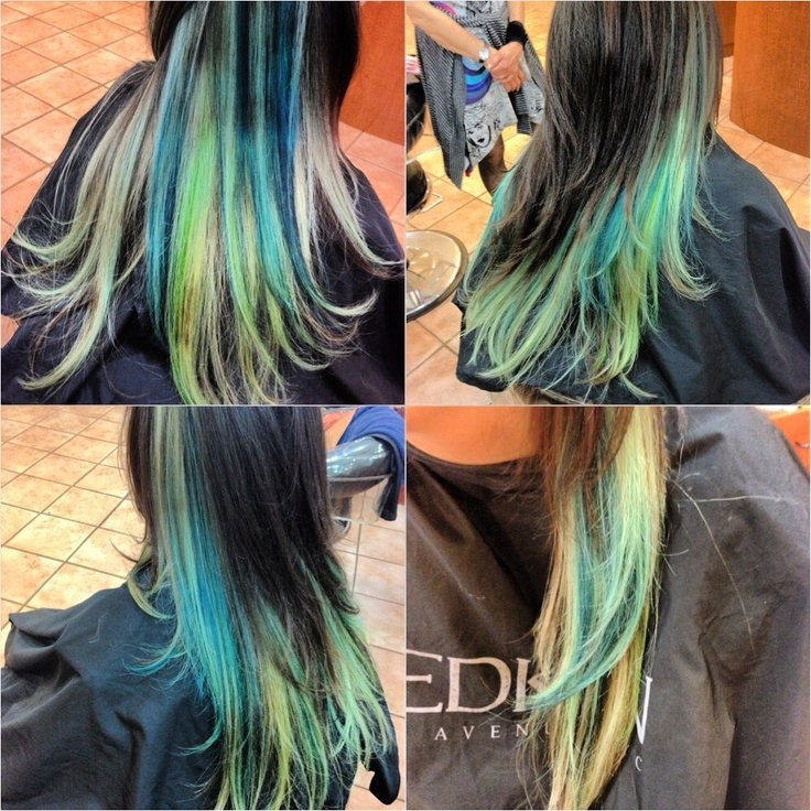 Turquoise highlights