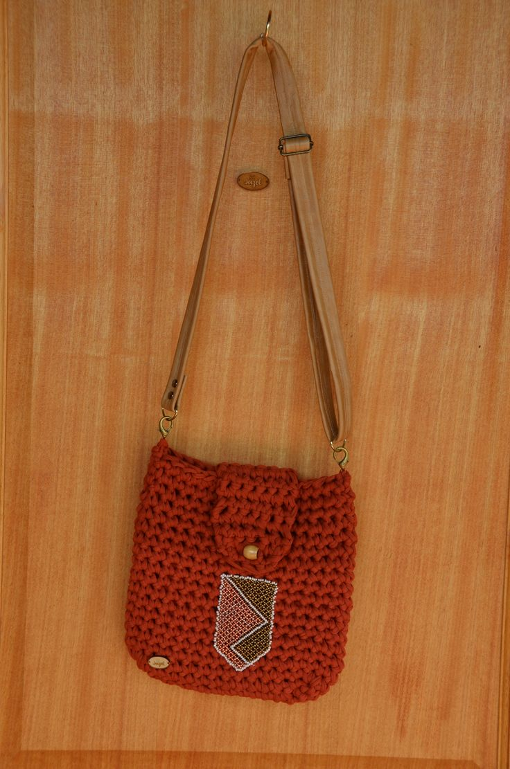 Handmade bag with leather strap by Joizel