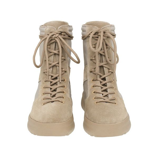 YEEZY SEASON 3 MENS MILITARY BOOT / ROCK ($605) ❤ liked on Polyvore featuring men's fashion, men's shoes, men's boots, mens new rock boots, mens rock climbing shoes, adidas mens shoes, mens boots and mens army boots