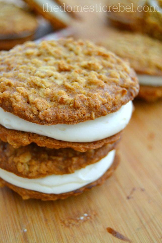 CopyCat Oatmeal Creme Pies {Oatmeal Creme Pie Week!!} – The Domestic Rebel
