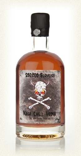 Worlds Hottest Vodka? ...  50,000 Scovilles - Naga Chilli Vodka 50cl