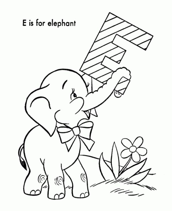36 Best Elephant Coloring Pages Images On Pinterest Baby Baby Elephant Coloring Pages