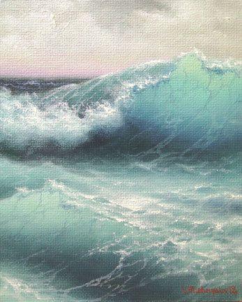 The Wave 8x 10 original oil painting on by vladimirmesheryakov, $219.99