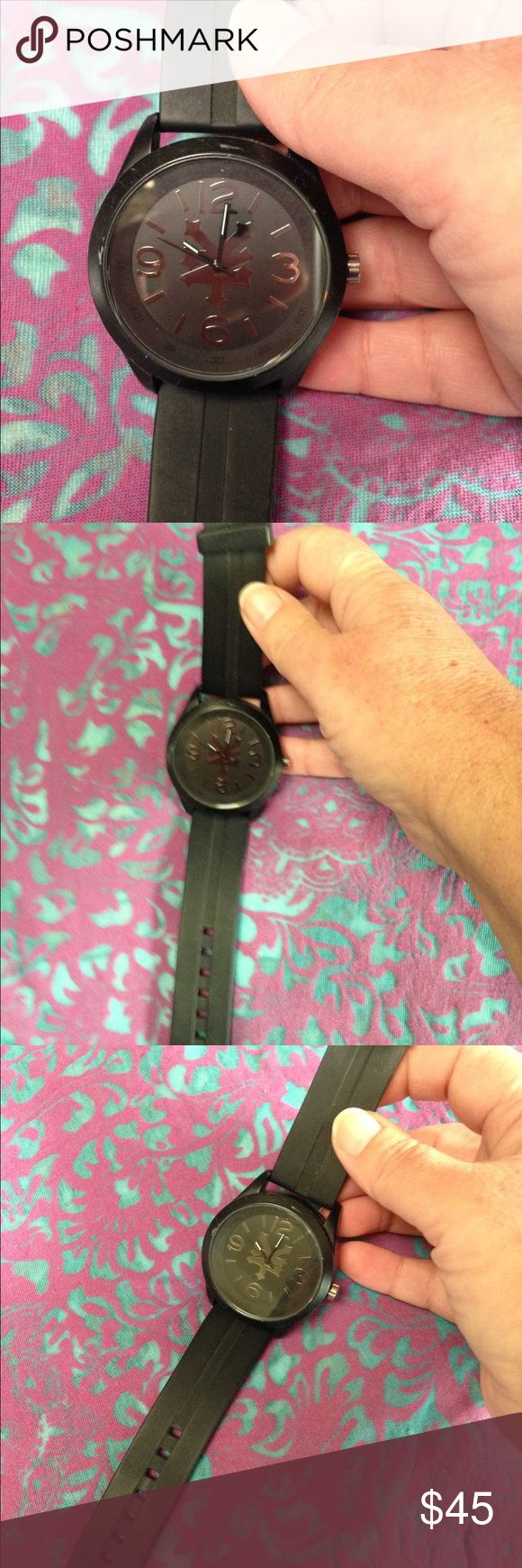 Zoo York men's watch This is a beautiful watch...all black on black with a little silver trim brand is zoo York! It needs a battery which doesn't run much$60 new Zoo York Accessories Watches
