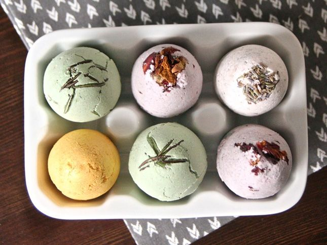 Bombs Away! 10 DIY Bath Bombs via Brit + Co.