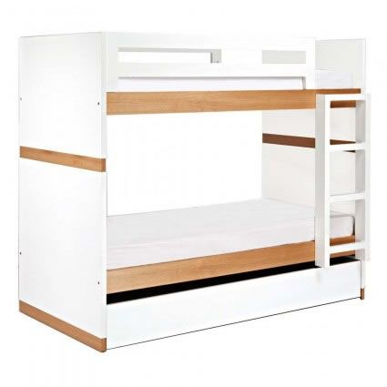 Carter Single Bunk Bed from Domayne painted a bright colour this