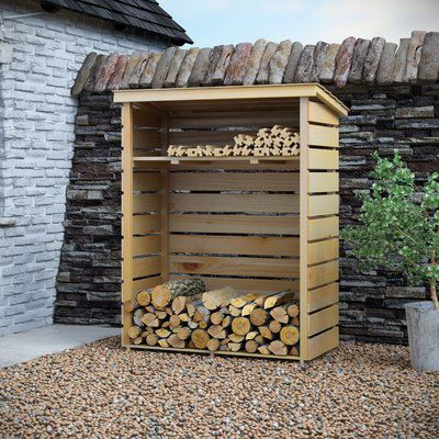 4 Ft. x 2 Ft. Wooden Log Store