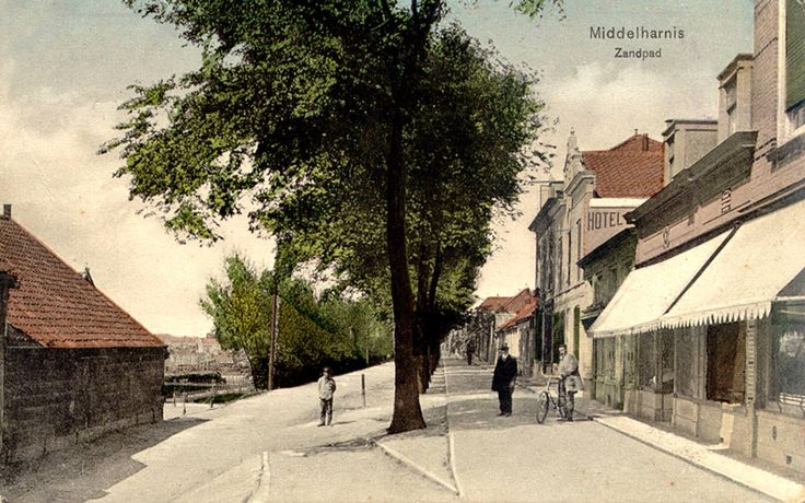 Zandpad Middelharnis in vroeger jaren