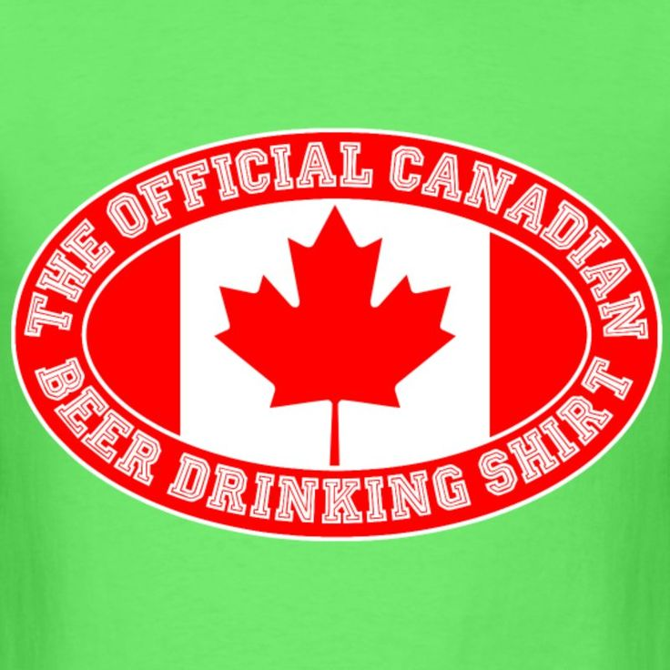 OFFICIAL CANADIAN BEER DRINKING SHIRT - Men's T-Shirt