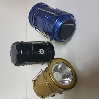 Rechargeable Camping Lantern With Solar And Battery 6+1 LED