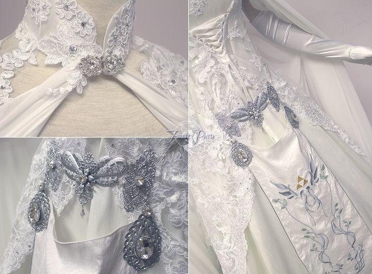 Zelda Wedding Dress Details by Lillyxandra.deviantart.com on @DeviantArt