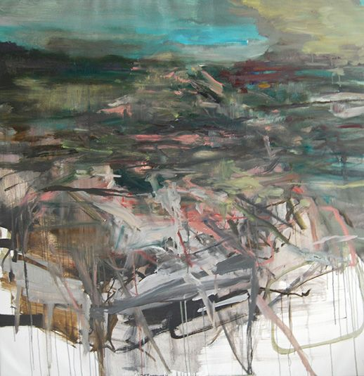Edwige Fouvry Branchage Chaos, 2013 I Oil on canvas I 59 x 59 inches