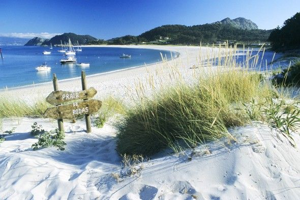 Discover the pristine Islas Cies. The ultimate travel bucket list: 50 places to see before you die.