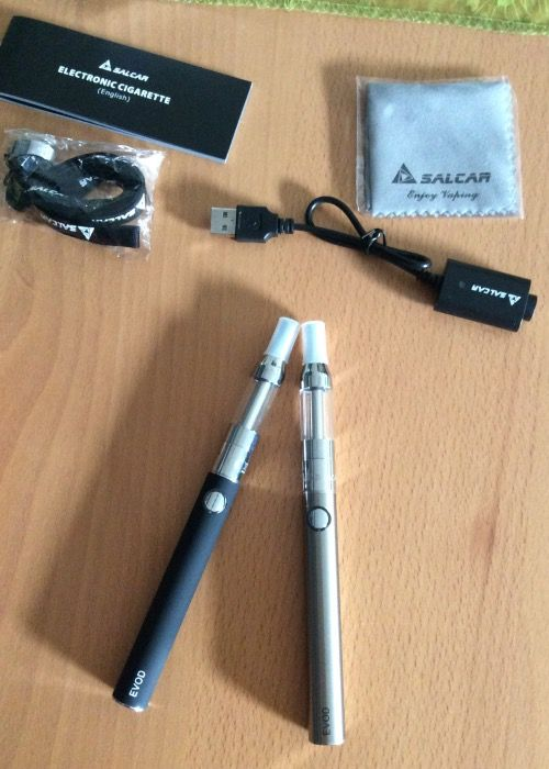 Salcar - Komplettset Elektronische Zigarette E-Zigarette Doppelset und Premium E-liquid