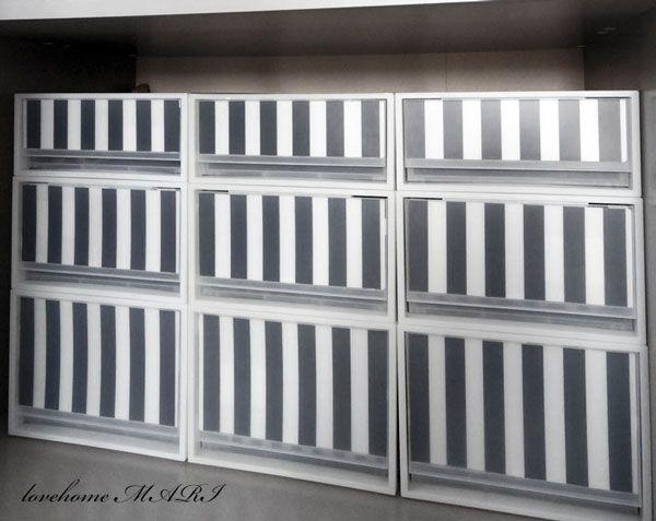 ◆【押入れ収納】無印のPP衣装ケースをイケアの白黒商品でスッキリ整理 - l o v e HOME 収納 & インテリア|yaplog!(ヤプログ!)byGMO