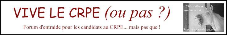 Vive le CRPE... ou pas ! - forum