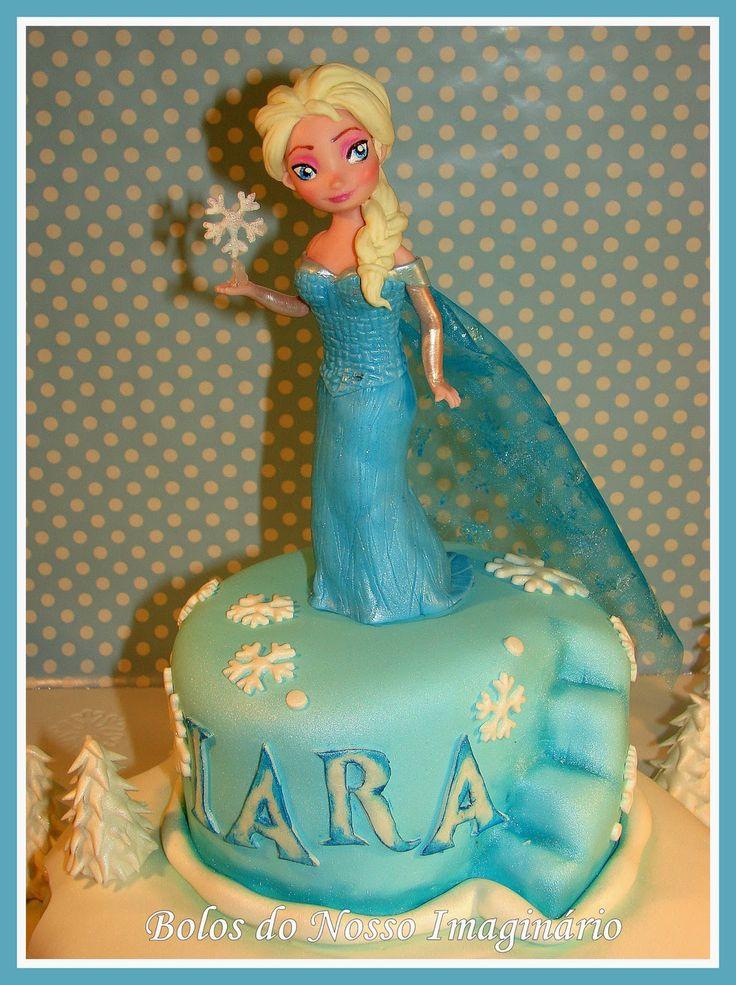 BOLOS DO NOSSO IMAGINÁRIO: Bolo Decorado de Aniversário Frozen Rainha Elsa e Princesa Ana Queen Elsa and  Princess Anna #Queen #Rainha #Elsa #Princess #Anna #Princesa #Anna #Frozen
