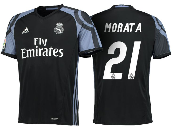 Real Madrid #21 Alvaro Morata 2016-17 Alternate Jersey