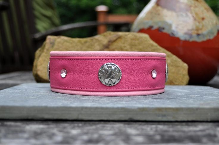 Sexy Beast Dog Collars - Breast Cancer Collar, $62.00 (http://sexybeastdogcollars.com/sbdc-signature-collection/breast-cancer-collar)