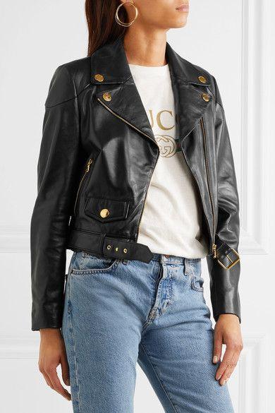 Boutique Moschino - Leather Biker Jacket - Black - IT46