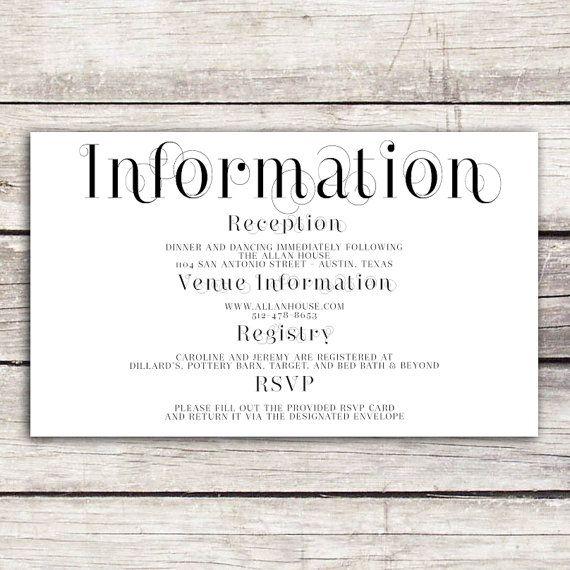 frame collection wedding information card  wedding