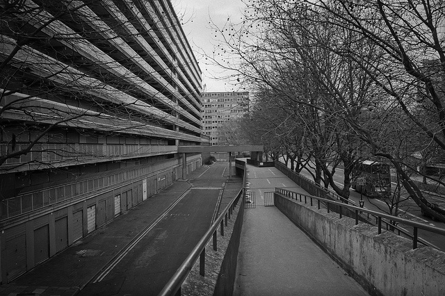 Heygate Estate, London, 1970-1974, Southwark Borough Council. Cleared 2007, demolished 2011-ongoing.