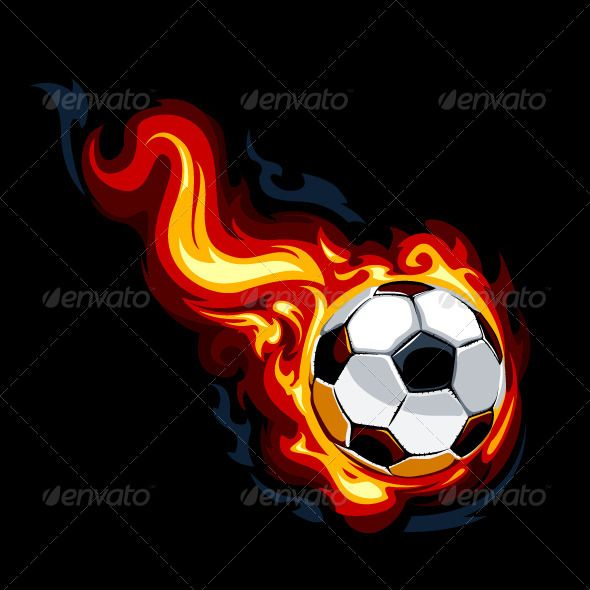 Burning Soccer Ball - Vectors