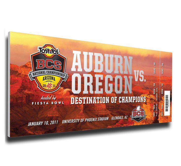 Auburn Tigers Wall Art - 2011 BCS National Championship Game Canvas Mega Ticket