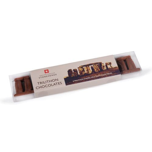 Fun trilithon shaped chocolates are a great treat from Stonehenge.