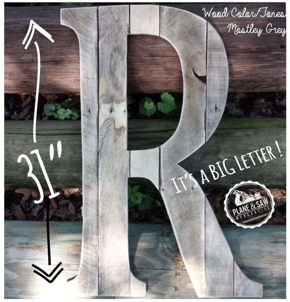 Hey, I found this really awesome Etsy listing at https://www.etsy.com/listing/236436969/rustic-letter-r-big-wooden-letter-farm