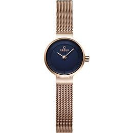 OBAKU Spire - azure // rose gold blue stainless steel watch