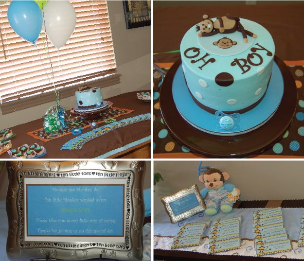 137 best baby shower images on pinterest monkey baby showers