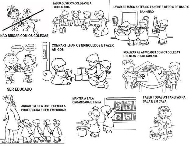 Texto Para O Primeiro Dia De Aula: Atividade Sobre Regras E Convivio Social Para As Crianças
