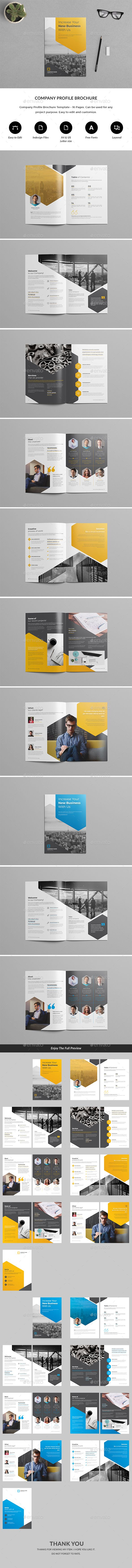Company Profile — InDesign INDD #company profile #project • Available here ➝ https://graphicriver.net/item/company-profile/21104580?ref=pxcr
