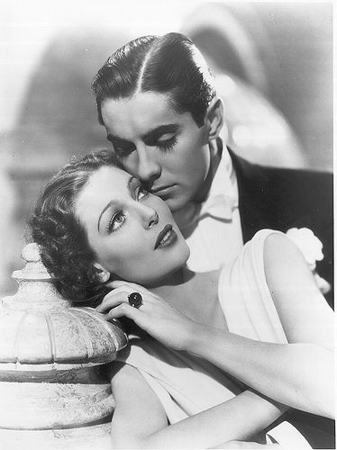 Tyrone Power and Loretta Young  (beautiful chemistry = beautiful couple)!
