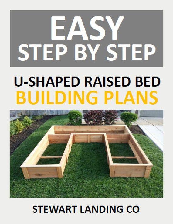 Cedar Raised Garden Bed Step By Step Plans 8ft U Shaped Etsy In 2020 Raised Garden Beds Diy Raised Garden Bed Plans Building Raised Garden Beds
