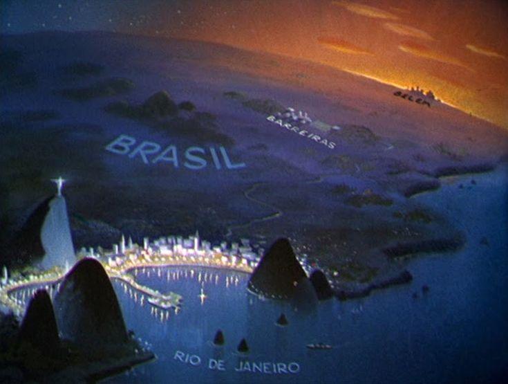 "BRASIL ""SALUDOS AMIGOS"" Background Artwork (1943)"