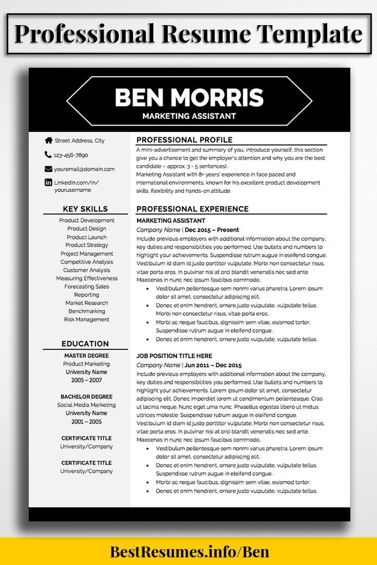 Modern Resume Template To Stand Out With Your Job Resume