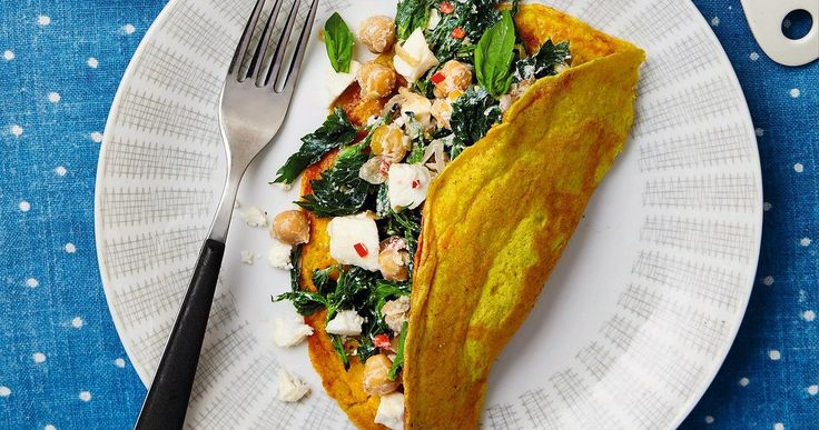 The weekend cook: Thomasina Miers' chickpea pancake with nettles – recipe