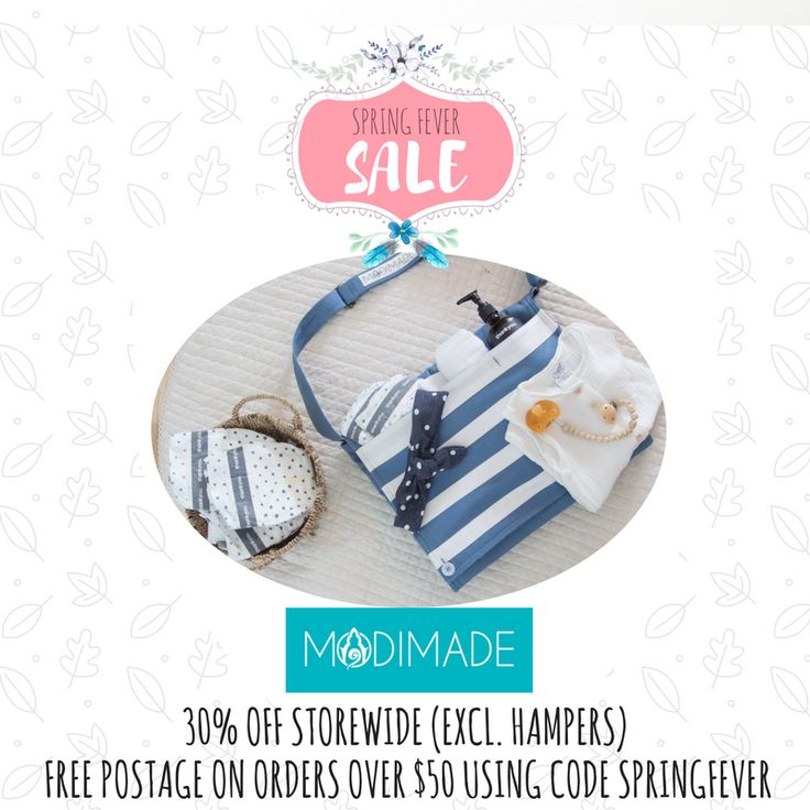 If you're looking for a unique Baby or Mum gift that is also ethically made then you need to check out the Modimade range! All Modimade products are made in Cambodia providing fair employment and opportunities to the people making them, so that you know your purchase is making a real difference. 30% off storewide (excl hampers) + free postage over $50 using code SPRINGFEVER. Offer ends midnight October 1.