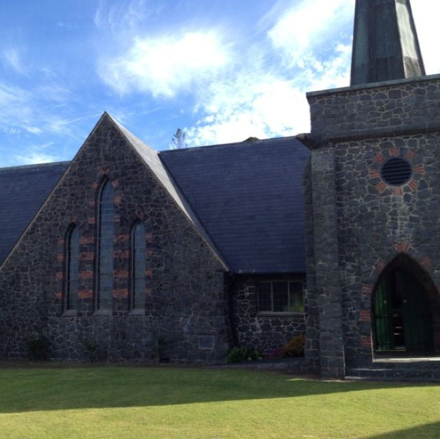 Stone church in Paihia, Bay of Islands NZ