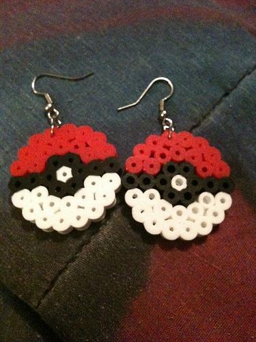 Pokeball earings