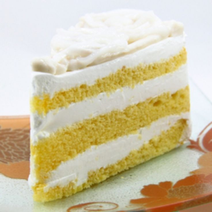 A very yummy recipe for yellow layer cake with fluffy white frosting.